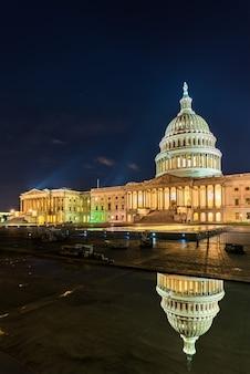 ワシントンdcの夜のアメリカ合衆国議会議事堂