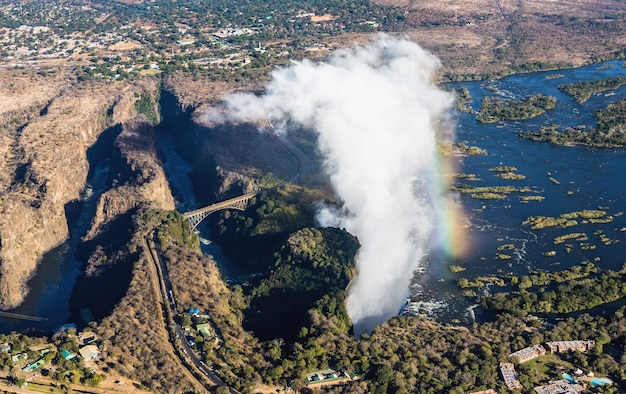 ビクトリアの滝は世界最大の水のカーテンです