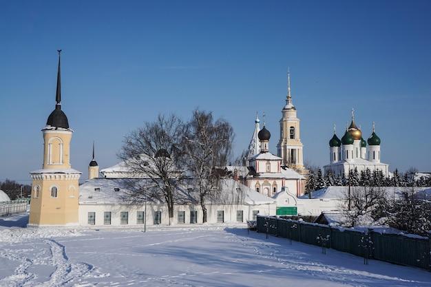 ロシアのモスクワ地方にある古いコロムナクレムリンの眺め