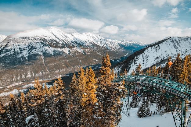 Вид с горы сера в банфе, канада