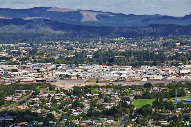 Вид на роторуа, новая зеландия