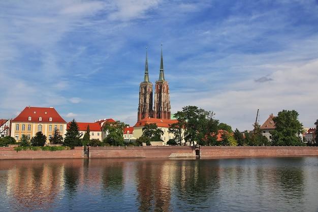 폴란드 브로츠와프 시의 전망
