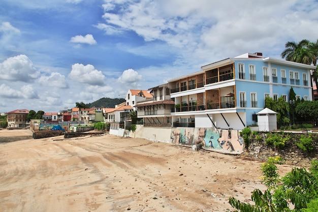 Вид на дома каско вьехо, панама, центральная америка