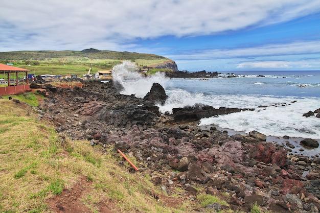 칠레 라파 누이 이스터 섬의 태평양 전망