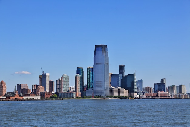 アメリカ合衆国、ニューヨークのダウンタウンの眺め