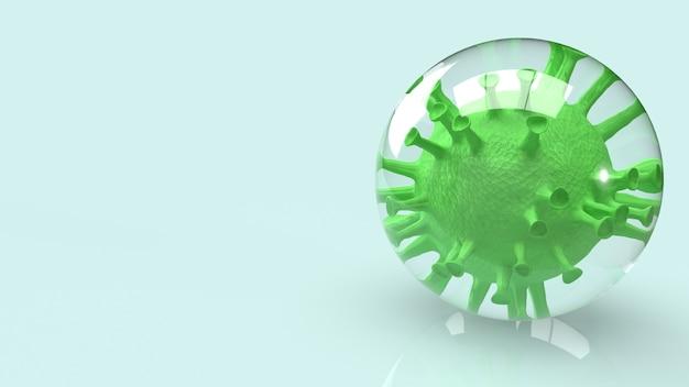 Вирус в пузыре для 3d-рендеринга содержимого вспышки.