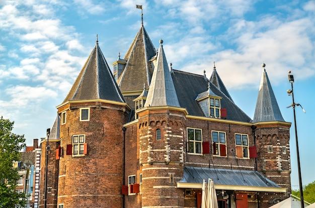 네덜란드 암스테르담의 waag 역사적인 건물