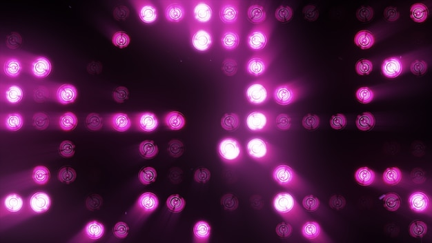 白熱灯の壁は明るい紫色です。 ledの背景