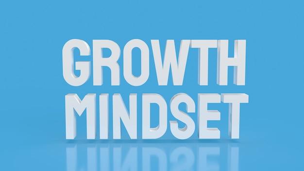 Слово мышления белого роста на синем цветном фоне 3d-рендеринга