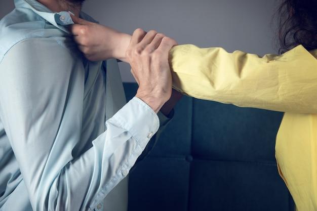 Жена насилует мужа. семейная ссора