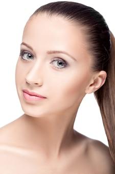 Лицо женщины с макияжем