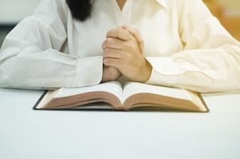 The women are praying.
