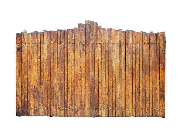 Изоляция деревянных ворот на белом фоне