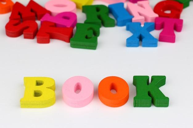 色付きの文字の単語帳