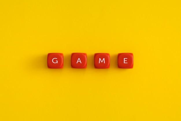赤い立方体の「ゲーム」という言葉