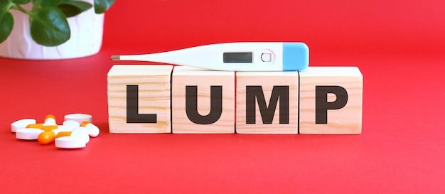 Lumpという言葉は木製の立方体でできています