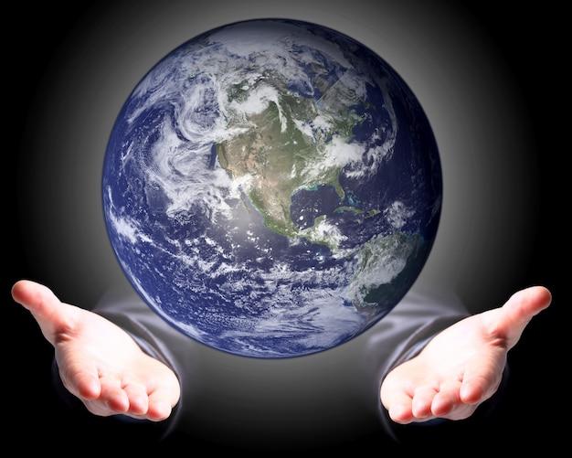 손바닥의 세계.