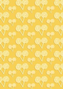 多くのキャンディーの黄色の抽象的なパターン