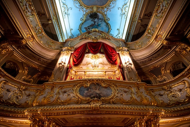 A theater in the royal palace in the city of st. petersburg in russia.