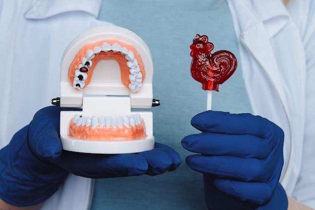 Theeth 검진 개념. 치아와 입 관리의 중요성.