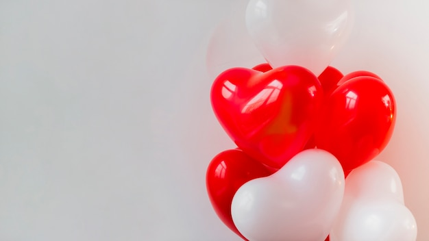 Thematic balloons for valentines day