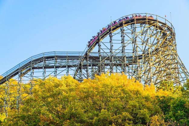 Theme blue carnival coaster amusement
