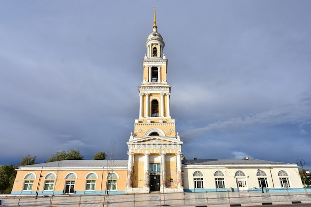 Theological church in the city of kolomna, high chapel of the church against the sky