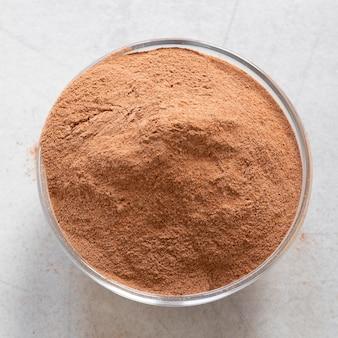 Terapia rilassante spa sabbia marrone