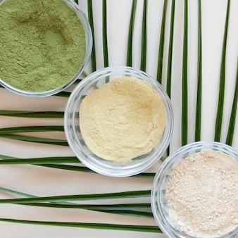 Terapia rilassante spa sabbia close-up
