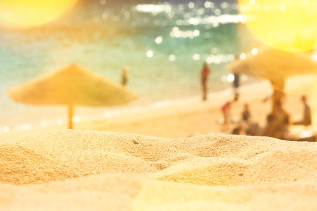 Theres no place like a sunny beach  travel destinations dream vacation and summer concept this is th...