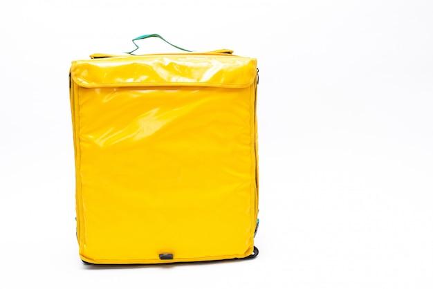 白い背景で隔離の熱バッグ。食品輸送用。