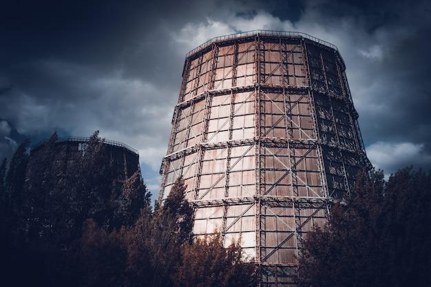 화력 발전소 어두운