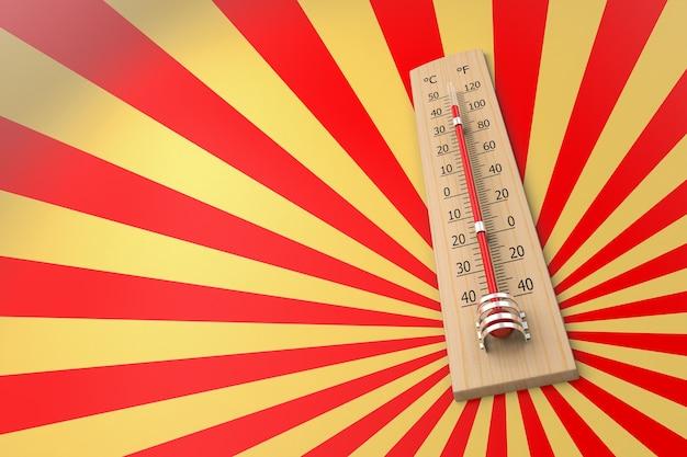 주변 온도의 개념으로 그런 지 배경에 대 한 온도계. 3d 렌더링
