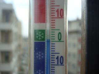 冬に温度計