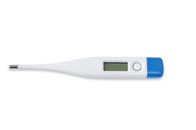 白い背景で隔離の温度計