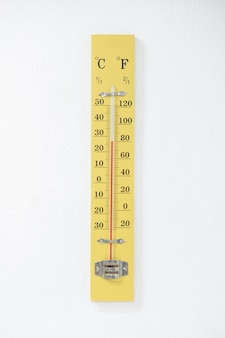 Thermometer on room wall check temperature