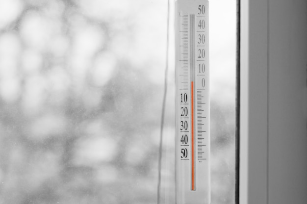 Thermometer on the window
