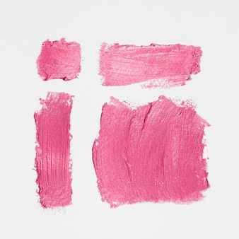 Thick pink composition paint brushes