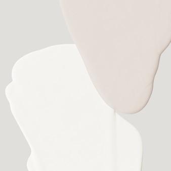 濃い白とベージュのアクリル絵の具液