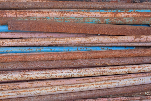 Thin rusty pipes