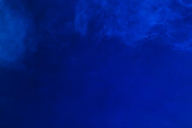 Thin smoke on blue