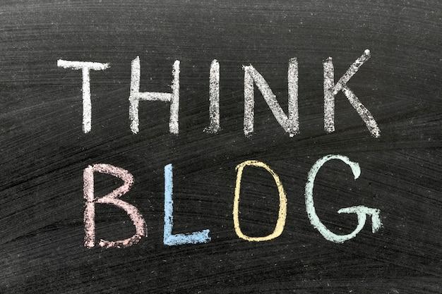 Подумайте о фразе в блоге, написанной от руки на школьной доске