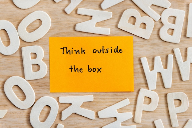 Think outside the box unique concept