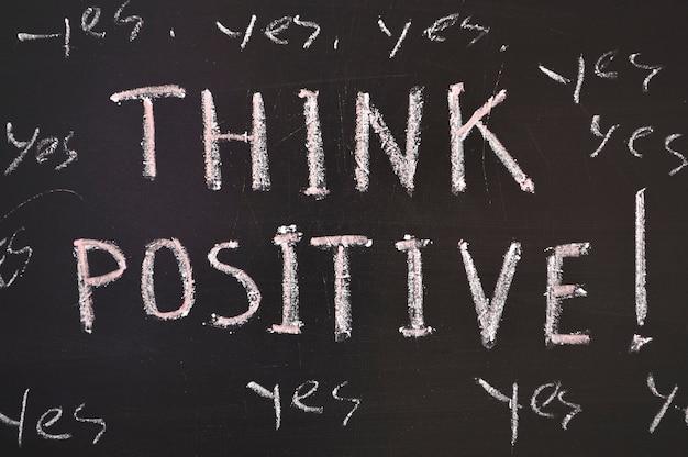 긍정적 인 생각, 칠판에 인용