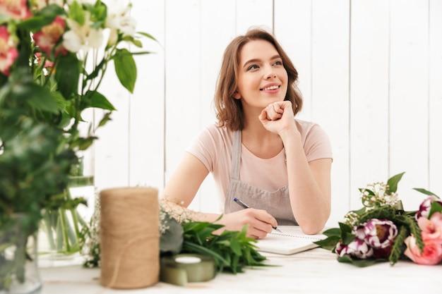 노트를 작성하는 워크샵에 꽃보다 꽃집 여자를 생각.