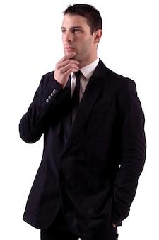 Thinking male man
