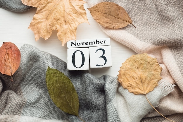Третий день осеннего календарного месяца ноябрь