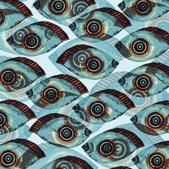 제 3의 눈 패턴 추상적 인 배경