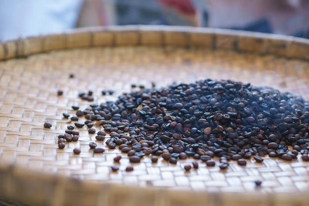 Third processing of vintage coffee bean