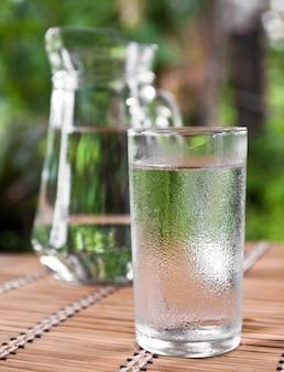 Thirst aqua liquid white background